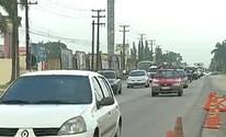 Movimento de saída de Belém para o feriado é intenso na BR-316 (Reprodução/TV Liberal)