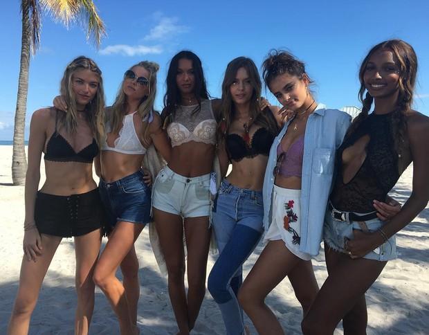 Martha Hunt, Elsa Hosk, Lais Ribeiro, Josephine Skriver, Taylor Hill e Jasmine Tookes (Foto: Instagram / Reprodução)