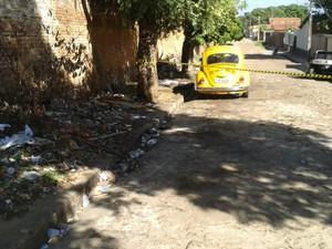 Jovem foi linchado até a morte após assaltar taxista em Teresina (Foto: Gilcilente Araújo/G1)