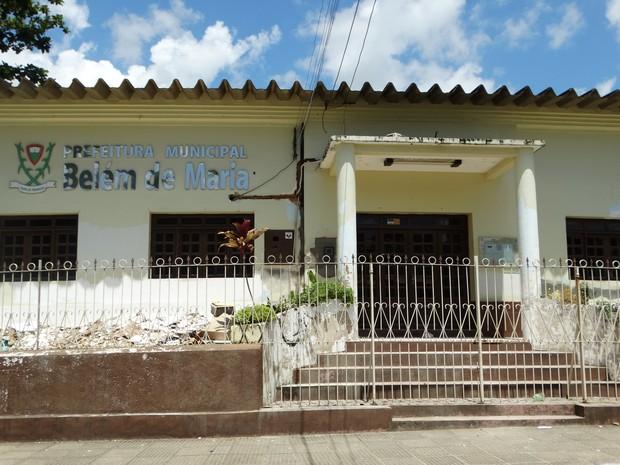 Prefeitura de Belém de Maria (Foto: Paula Cavalcante/ G1)
