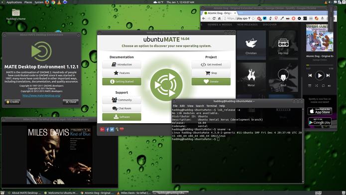 O MATE é uma revisão do antigo GNOME 2 (Foto: Divulgação/Ubuntu MATE)