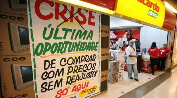 Loja do grupo Ricardo Eletro: grupo enfrenta crise (Foto: O Globo)