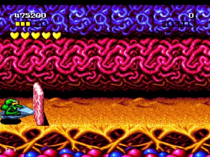 Battletoads: a versão para Mega Drive possuía gráficos e sons melhores (Foto: Reprodução/Vao Jogar)
