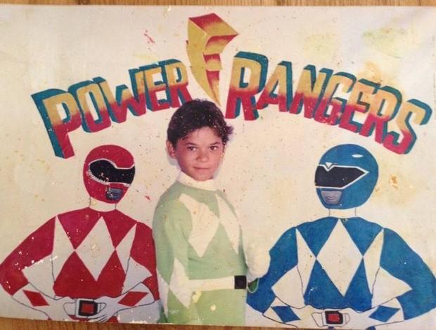 Gleison Tibau fantasiado de Power Rangers na infância (Foto: Cedida/Arquivo Pessoal)
