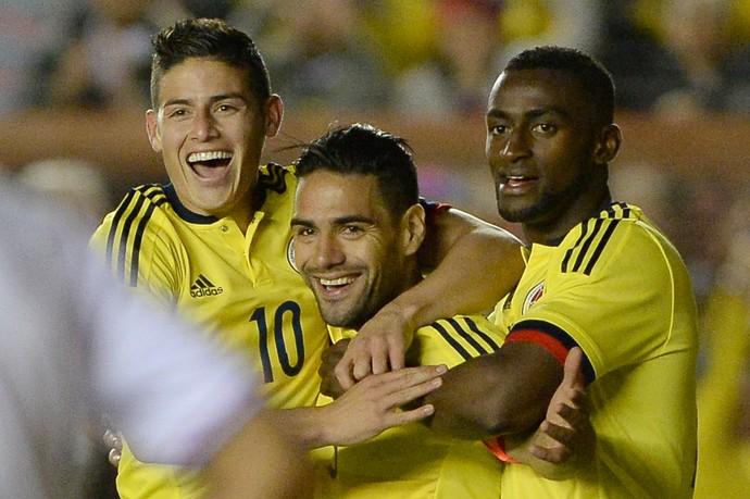 Falcao, James Rodriguez e Jackson (Foto: AFP)