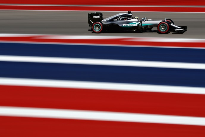 Lewis Hamilton no treino classificatório para o GP dos EUA (Foto: Getty Images)
