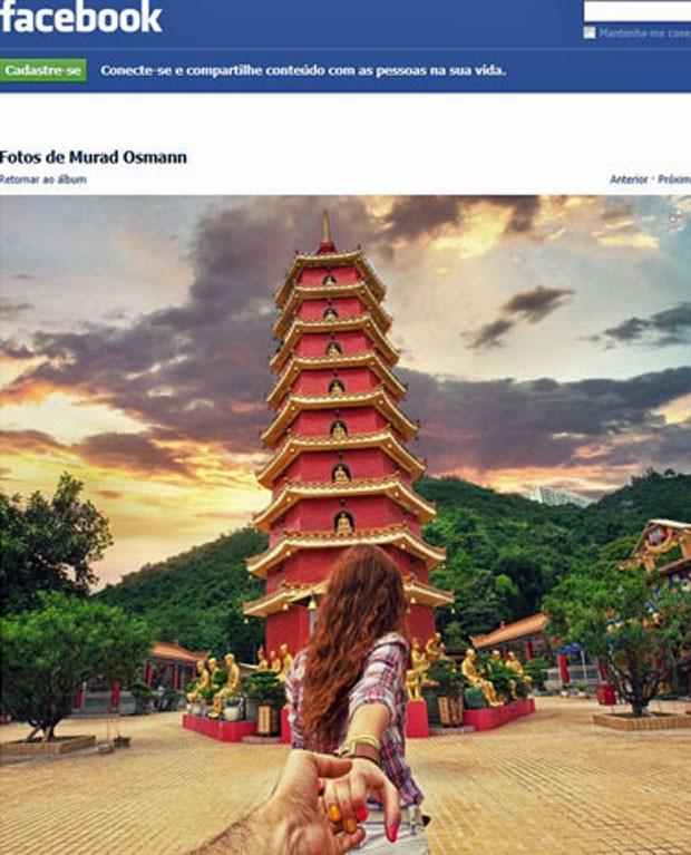 Foto de Murad Osmann para projeto Follow Me em Hong Kong- vertical (Foto: Reprodução/Facebook)