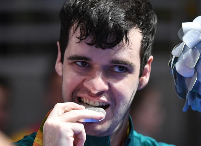 Israel Stroh x Will Bayley - final tênis de mesa paralimpíada rio 2016 pódio (Foto: André Durão)