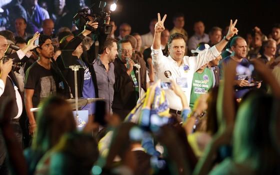 Aécio Neves é reeleito presidente do PSDB em convenção nacional em Brasília (Foto: Divulgação PSDB)