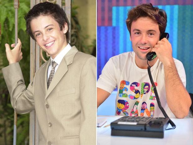 Kayky Brito, há 12 anos, em O Beijo do Vampiro, e, recentemente, no Criança Esperança (Foto: João Miguel Júnior / TV Globo)