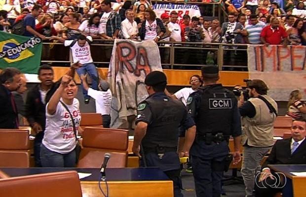 Vereadores rejeitam pedido de impeachment do prefeito de Goiânia, Goiás (Foto: Reprodução/TV Anhanguera)