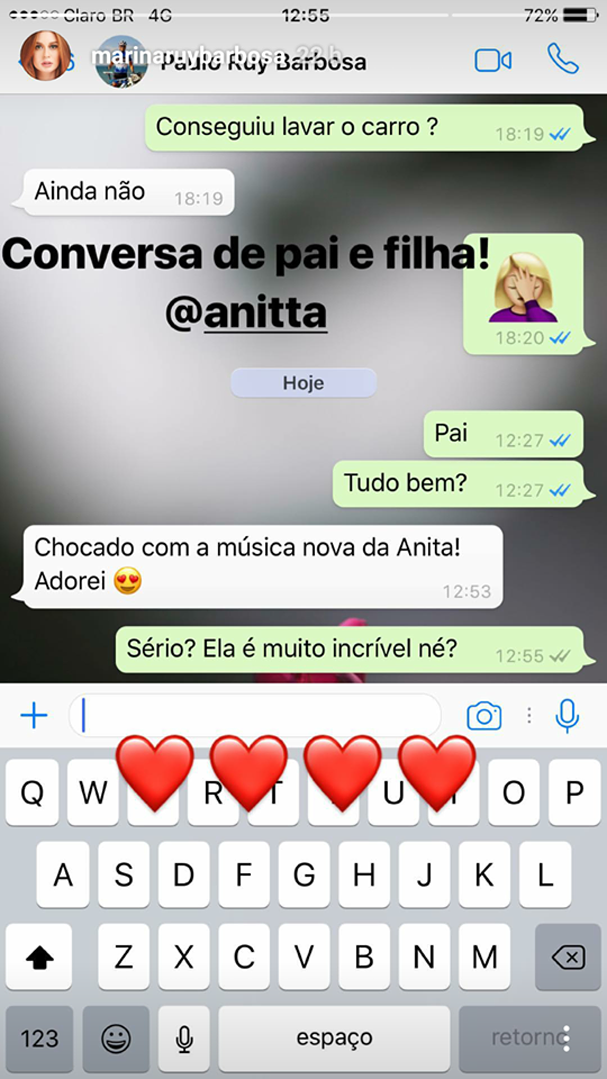 Conversa de Marina Ruy Barbosa (Foto: Reprodução)