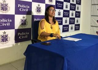 delegada Patrícia Brito (Foto: Alan Tiago Alves / G1)