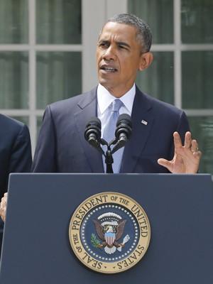 Obama anuncia ações contra a Síria em discurso neste sábado (31) (Foto: AP/Charles Dharapak)