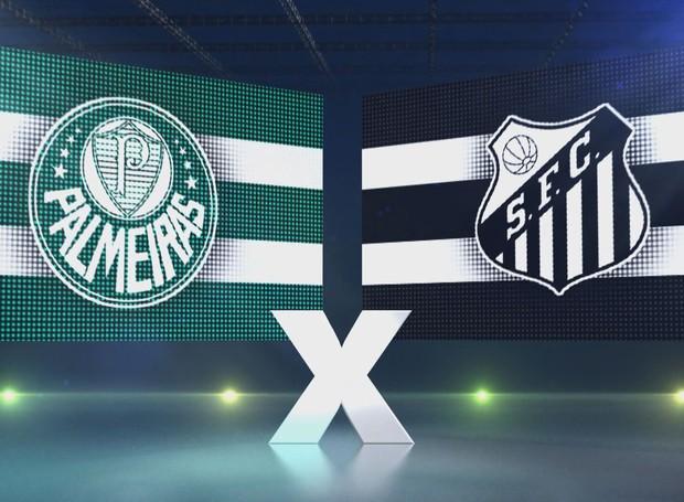 Palmeiras e Santos pelo Campeonato Brasileiro (Foto: Reprodução/TV Tribuna)