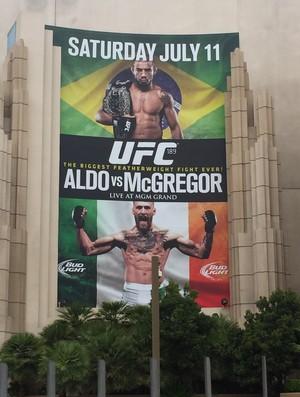 Pôster José Aldo Conor McGregor UFC 189 MGM Grand