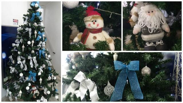 Árvore de Natal da TV Tribuna (Foto: Montagem/TV Tribuna)