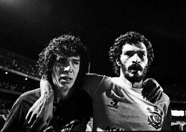 A dupla em dezembro de 1983 (Foto: Jorge Araújo - Folhapress)