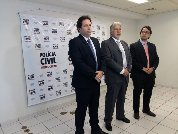 Delegados de Uberlândia Eduardo Leal, Hamilton Tadeu de Lima e Edson Morais (Foto: Caroline Aleixo/G1)