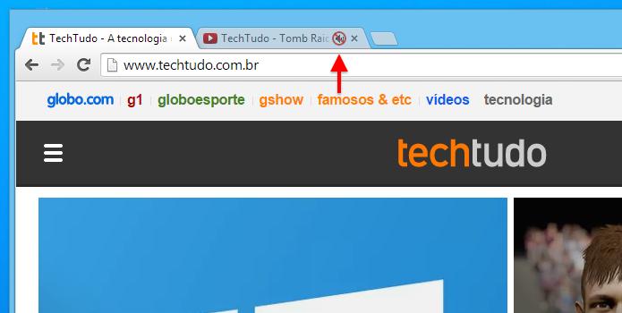 Novo recurso do Chrome permite deixar aba sem som (Foto: Reprodução/Helito Bijora)