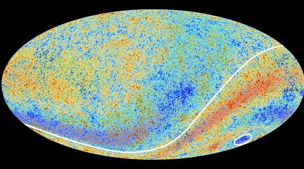 A área onde fica o chamado Ponto Frio fica na constelação de Eridano no hemisfério galático sul, como mostra a imagem feita pela Agência Espacial Europeia em colaboração com o telescópio Planck (Foto: ESA e Planck Collaboration)