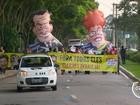 Manifestantes fazem protesto contra governo federal em São José, SP