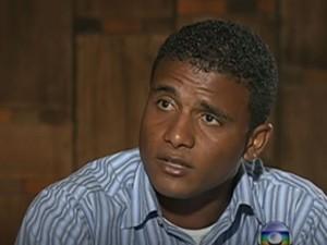 Jorge Luiz foi preso por furto. Ele é primo do goleiro Bruno (Foto: Reprodução/TV Globo)