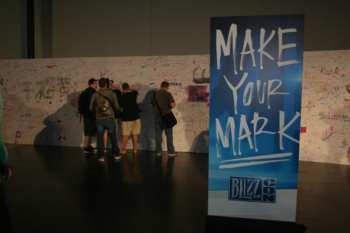 É possível deixar sua marca na BlizzCon (Foto: Felipe Vinha)