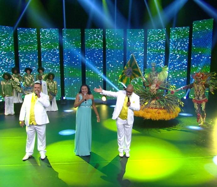 Unidos do Peruche na gravação da vinheta de Carnaval 2016 (Foto: Divulgação TV Globo)