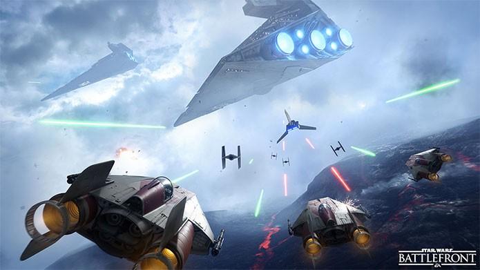 As A-Wing em esquadrão de Star Wars Battlefront (Foto: Divulgação/EA)