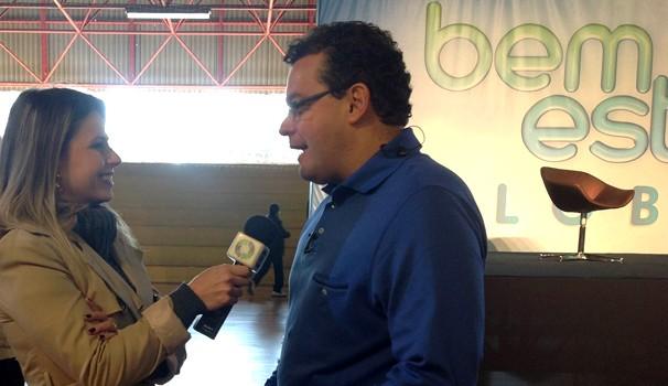 Daiane Fardin e Fernando Rocha Bem Estar Global (Foto: Divulgação/ RPC TV)