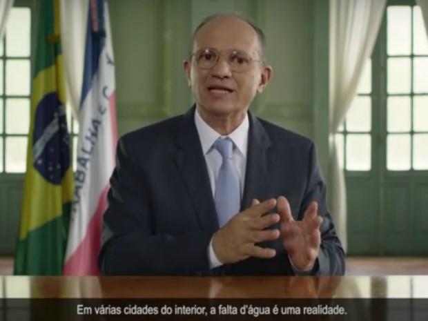 Pronunciamento do governador Paulo Hartung sobre a seca (Foto: Reprodução/Governo do ES)