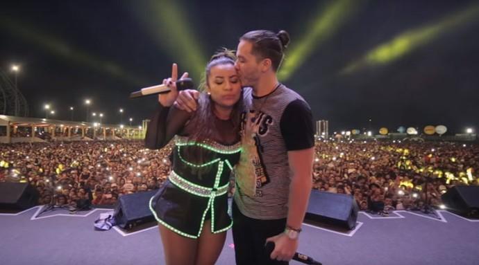 Parceiros. Wesley Safadão e Márcia Fellipe são amigos desde o Garota Safada (Foto: Reprodução)
