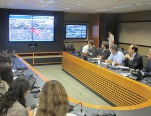 Prefeitura esquema de trânsito (Foto: André Casado)