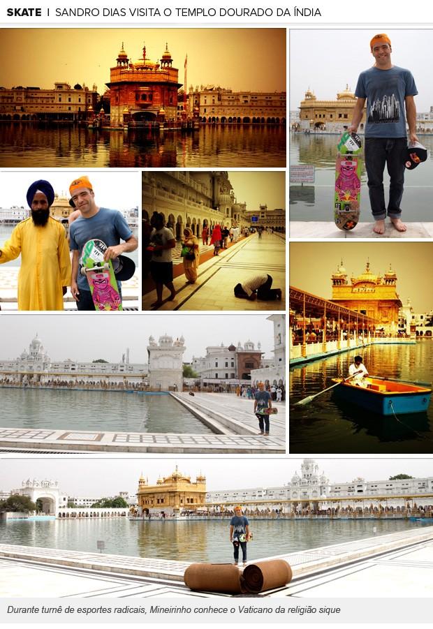 galeria nova Sandro Dias Templo Dourado na Índia (Foto: Editoria de Arte / Globoesporte.com)