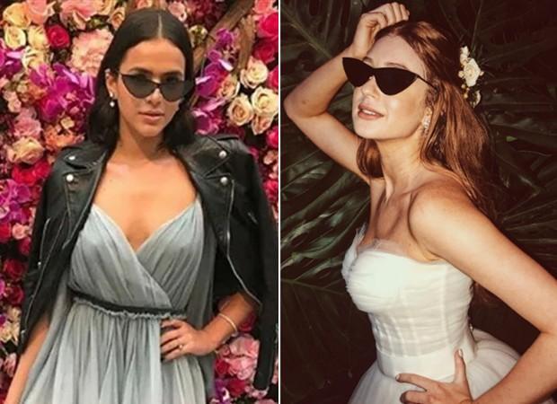 Bruna Marquezine empresta óculos para Marina Ruy Barbosa em festa de casamento (Foto: Reprodução/Instagram)