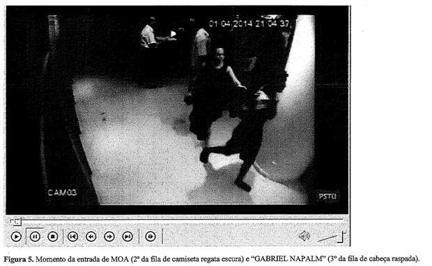 Inquérito mostra print de black blocs invadindo sede do PSTU (Foto: Divulgação/Polícia Civil)