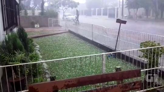 Chuva de granizo atinge municípios e causa danos no Rio Grande do Sul