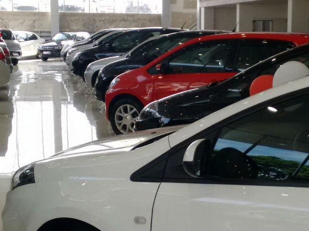 Concessionária de veículos em Sorocaba, SP (Foto: Moisés Soares/ TV TEM)