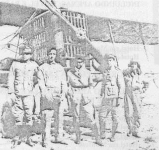 Pilotos do Exército participam de missão na 1ª Guerra Mundial (Foto: Revista do Exército Brasileiro/acervo do historiador Luiz Caminha)