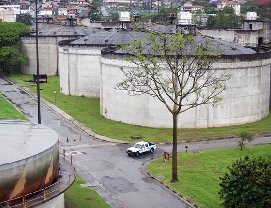 Estação elevatória de esgoto da Sabesp no bairro de Pinheiros (Foto: Rogério Cassimiro/Editora Globo)