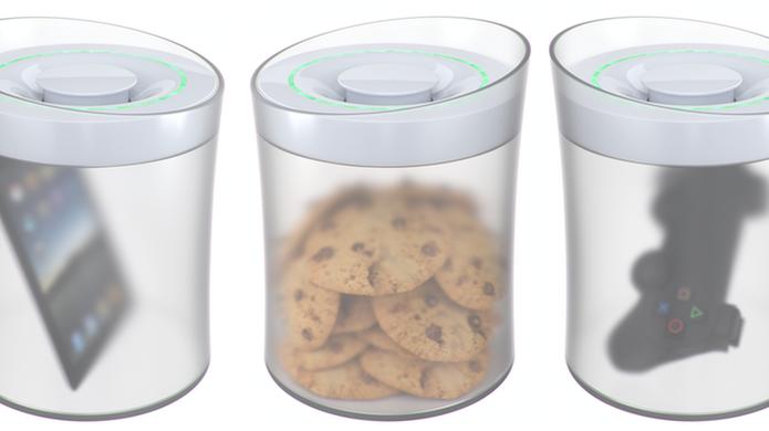 KSafe tranca comidas e objetos e só libera quando usuário consegue cumprir alguma meta (Foto: Divulgação/Kickstarter)