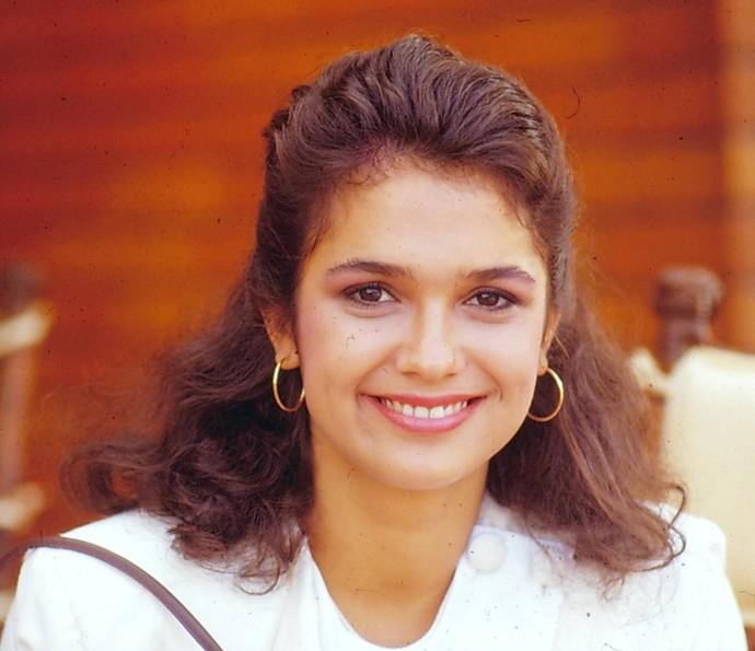 A jornalista também fez parte do elenco da série 'Tarcísio & Glória' (1988) (Foto: TV Globo)
