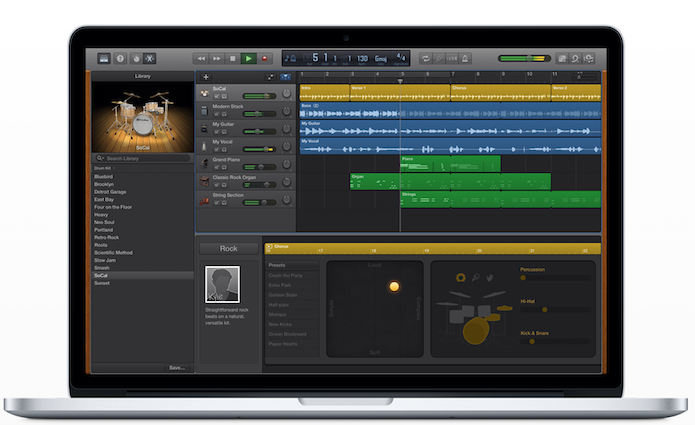 O GarageBand é uma solução em ferramentas de áudio para todos os usuários de Mac (Foto: DIvulgação/Apple)