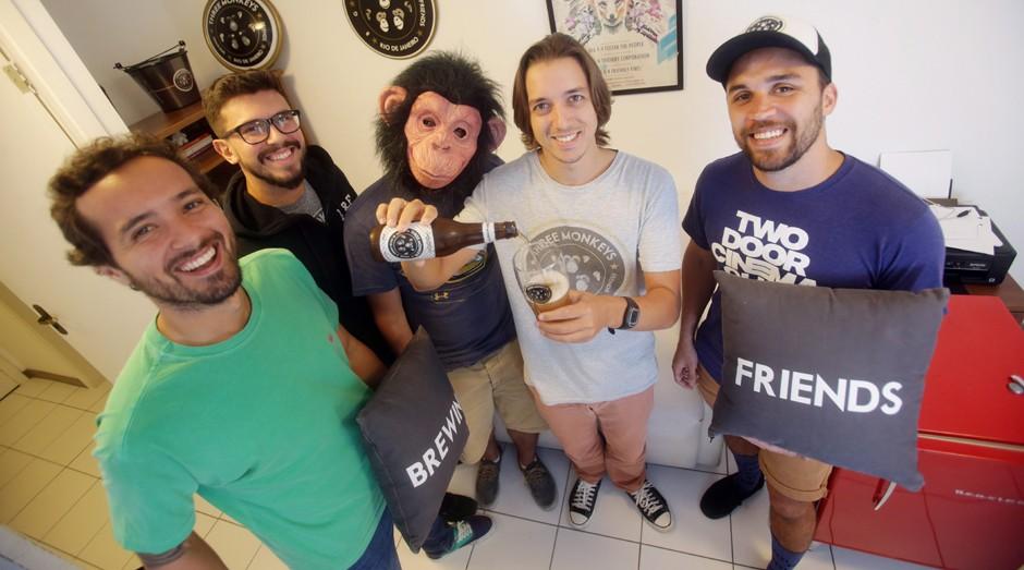 Three Monkeys Beer: empresa terceirizaou a produção (Foto: Rafael Moraes )