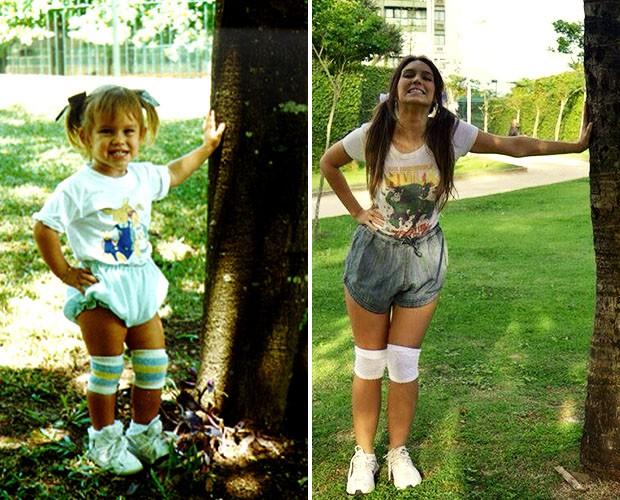 Sempre fofa: o antes e depois de Isadora Morais (Foto: Divulgação)
