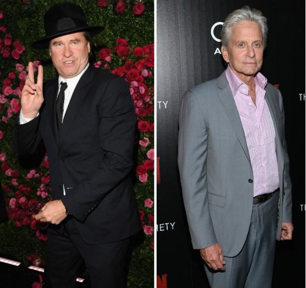 Os atores Val Kilmer e Michael Douglas (Foto: Getty Images)