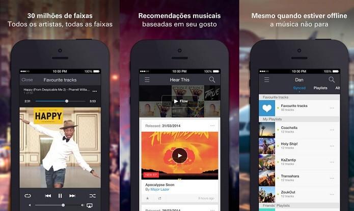 Deezer oferece muita música, mesmo offline (Foto: Divulgação/AppStore)