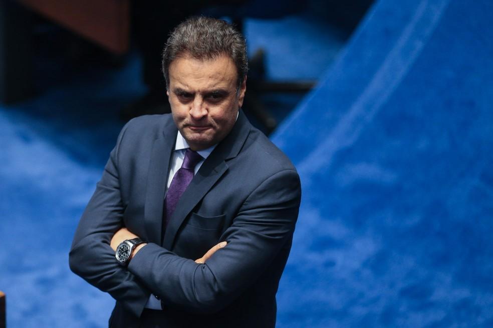 O senador afastado Aécio Neves (PSDB-MG) (Foto: Fabio Pozzebom/Agência Brasil)