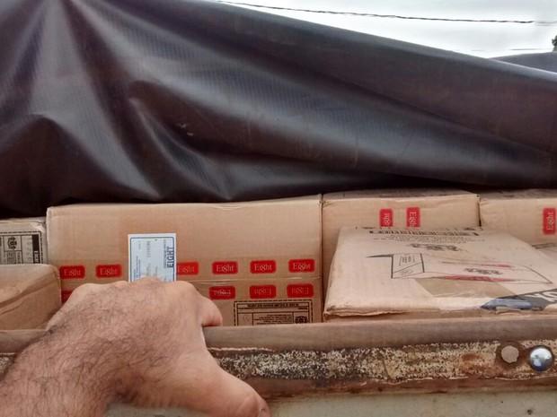Veículo foi abordado nesta quarta-feira (24) em Paulicéia (Foto: Polícia Militar/Cedida)